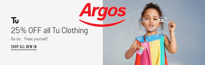 Argos 25% Off TU Clothing Slider