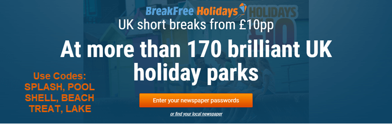 BreakFree £10 Holidays Slider