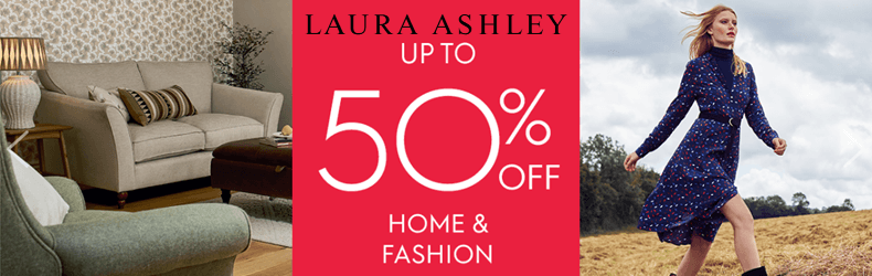 Laura Ashley Up To 50% Off Home & Fashion Slider