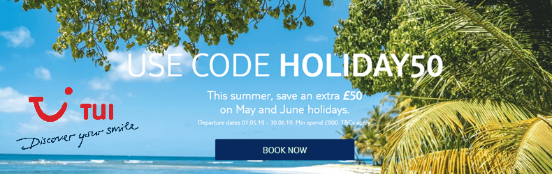 TUI £50 Off May & June Holidays