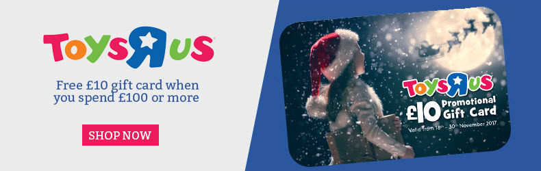 Toys R Us free £10 gift voucher