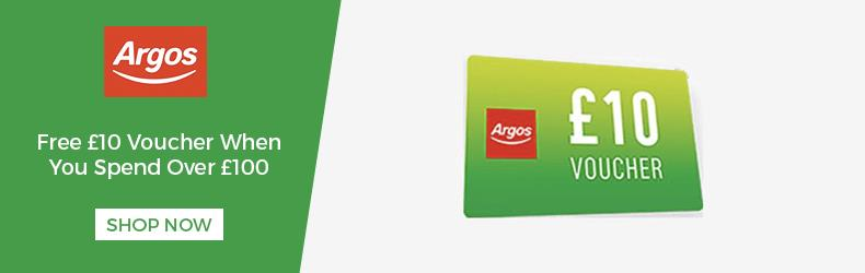 free 10 pound voucher when you spend 100 at argos