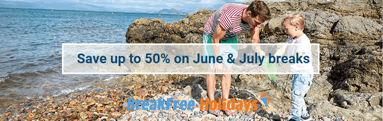 BreakFree holidays 50% off june&july