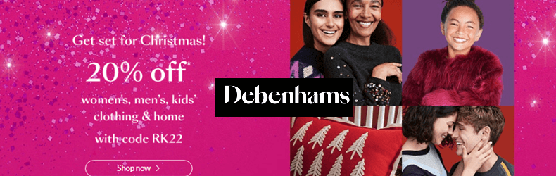 Debenhams 20% off slider