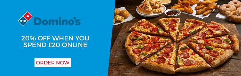 Dominos slider twenty percent off