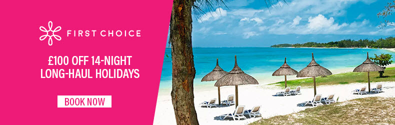 save one hundred on two week holidays with first choice