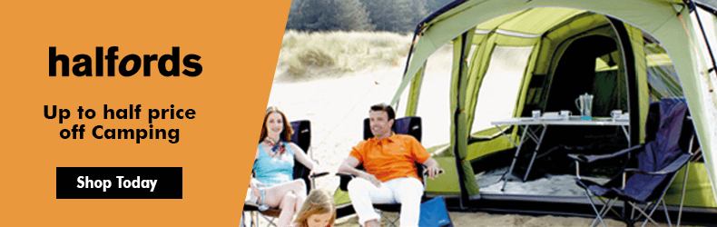 Halfords Half price Camping offer