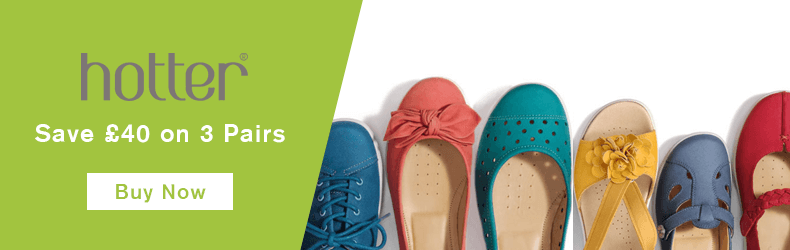 Hotter Shoes 3 pairs March offer