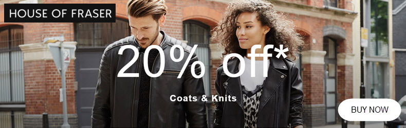 house of fraser 20 off knitwear