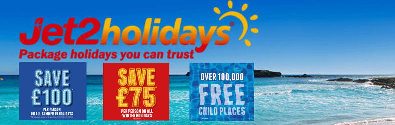 Jet2Holidays £75pp off slider