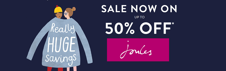 Joules up to 50% off slider