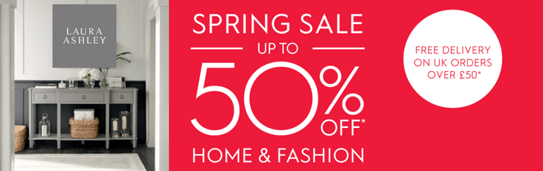Laura Ashley 50% Off Furniture & Fashion Slider