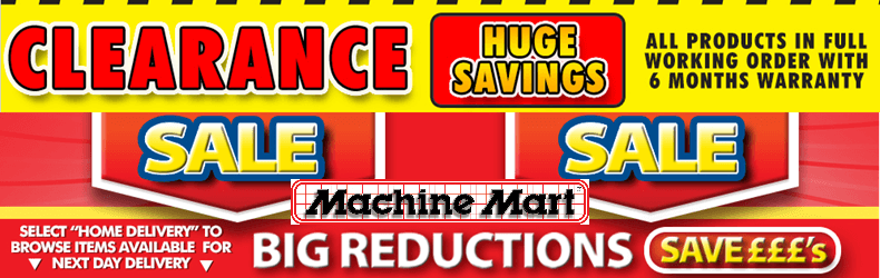 Machine Mart Clearance Sale Slider