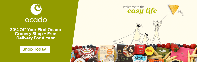 30% Off Your First Ocado Grocery Shop + Free Delivery For A Year Slider