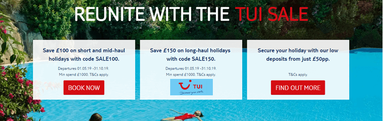 TUI Boxing Day Sale 2018 Slider